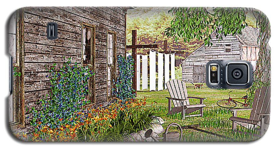 Adirondack Chair Galaxy S5 Case featuring the photograph The Chicken Coop by Peter J Sucy