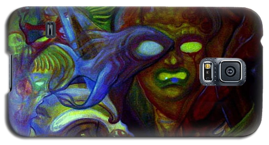 Chaos Galaxy S5 Case featuring the painting The Clutter Of Chaos by Will Le Beouf