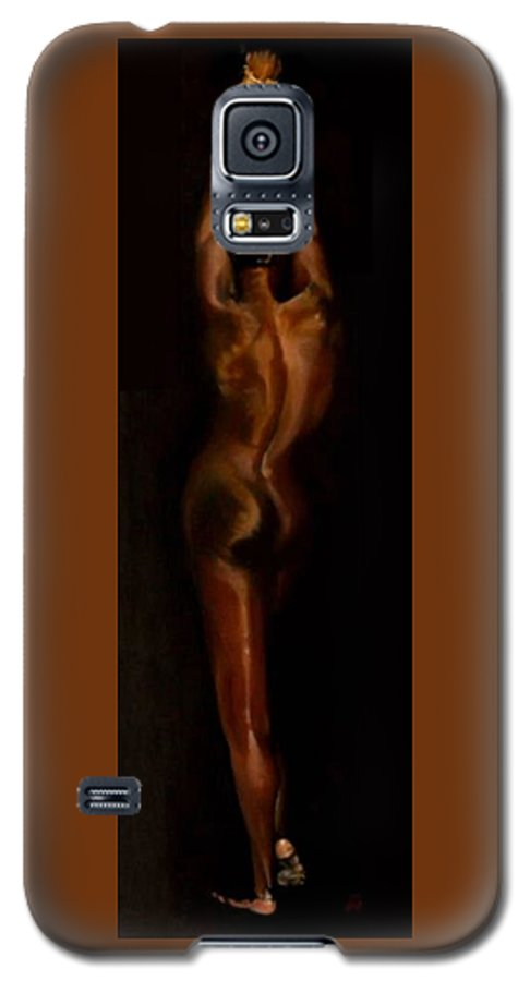 Bondage Galaxy S5 Case featuring the painting The Compliant Captive by Jane Simpson