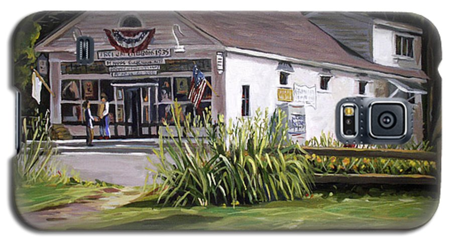 Buildings Galaxy S5 Case featuring the painting The Country Store by Nancy Griswold