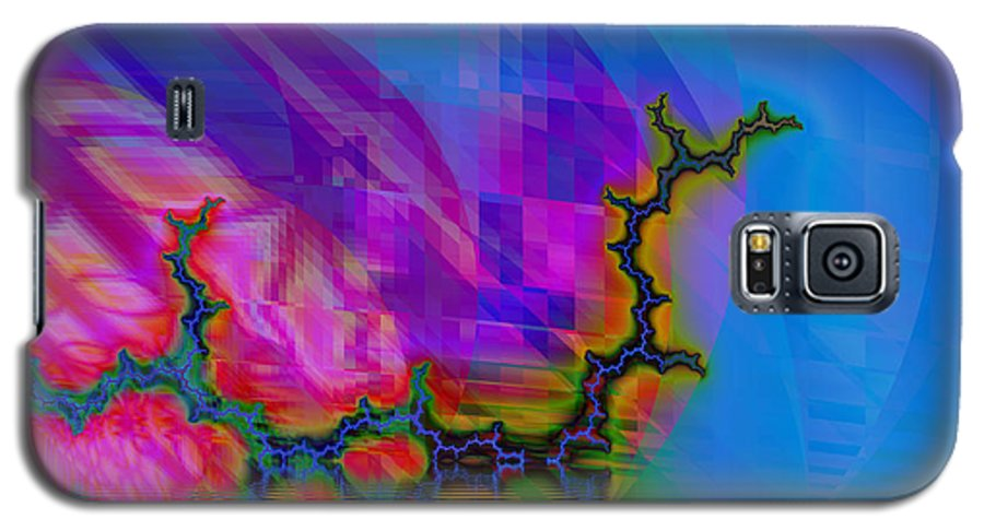 Fractal Galaxy S5 Case featuring the digital art The Crawling Serpent by Frederic Durville