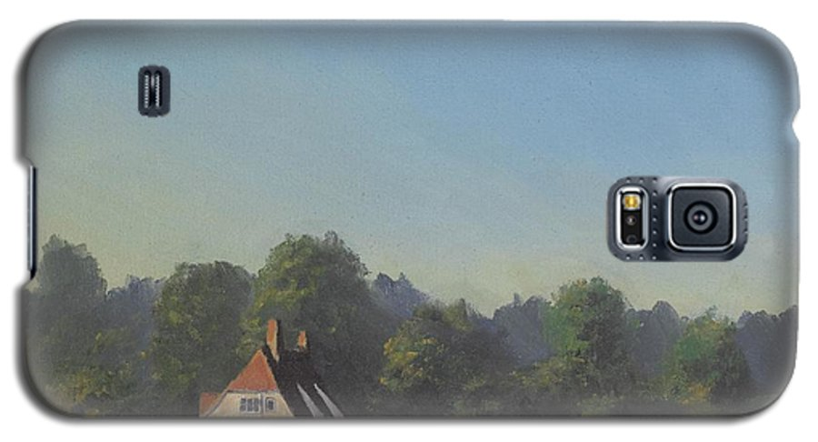 Landscape Trees Galaxy S5 Case featuring the painting The Crooked Billet by Richard Picton