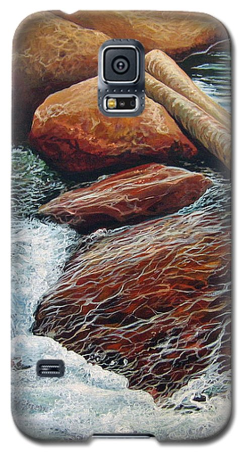 Stream Galaxy S5 Case featuring the painting The Crossing by Hunter Jay