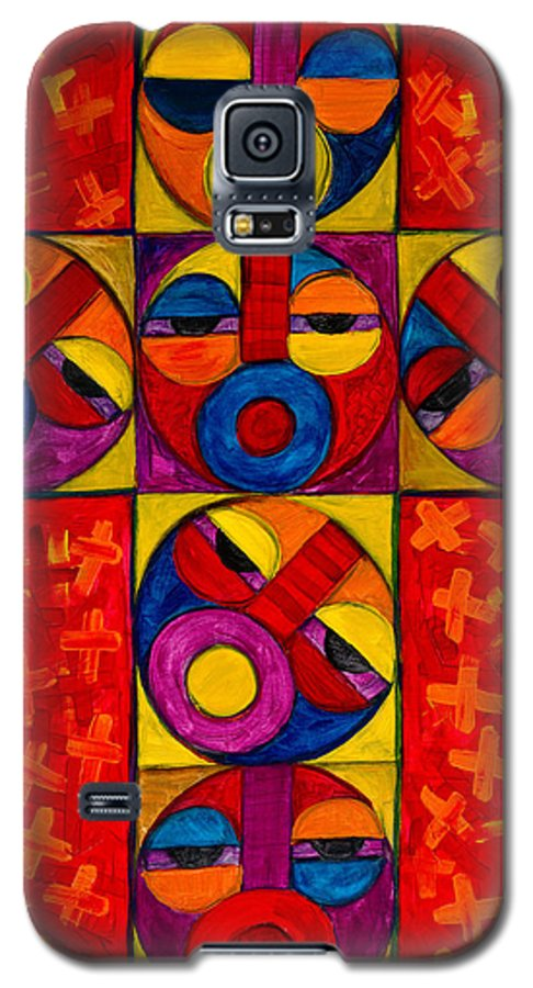 The Cross Galaxy S5 Case featuring the painting The Crucifix by Emeka Okoro
