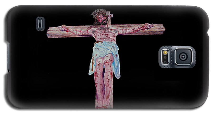 Crucifixion Galaxy S5 Case featuring the painting The Crucifixion by Stan Hamilton