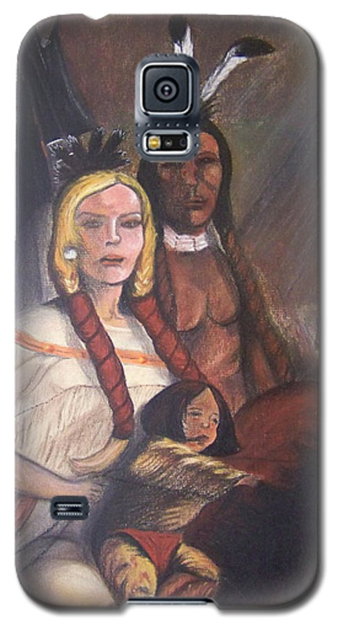 Artwork Galaxy S5 Case featuring the painting The Cynthia Ann Parker Family by Laurie Kidd