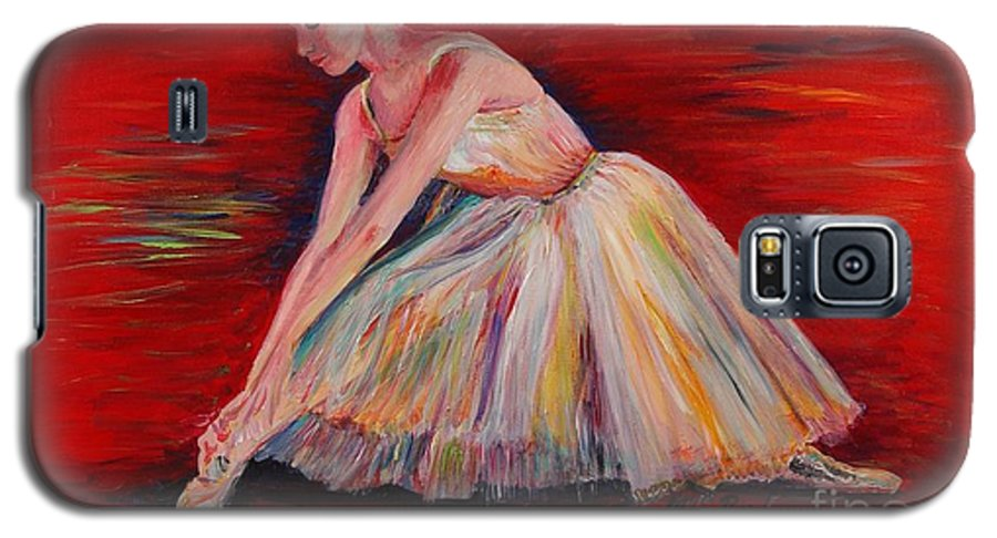 Dancer Galaxy S5 Case featuring the painting The Dancer by Nadine Rippelmeyer