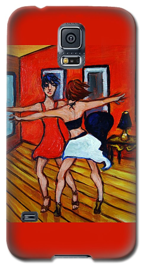 Dancers Galaxy S5 Case featuring the painting The Dancers by Valerie Vescovi