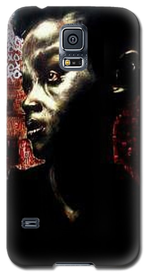 Portrait Galaxy S5 Case featuring the mixed media The Day We First Met by Chester Elmore