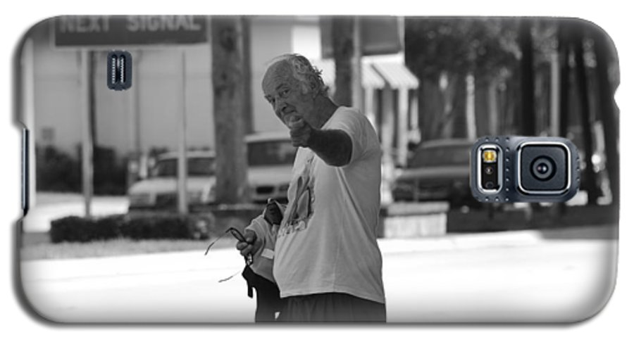 Black And White Galaxy S5 Case featuring the photograph The Devil Man by Rob Hans