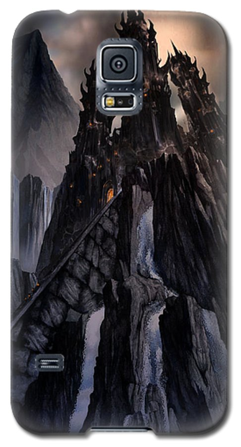 Architectural Galaxy S5 Case featuring the mixed media The Dragon Gate by Curtiss Shaffer
