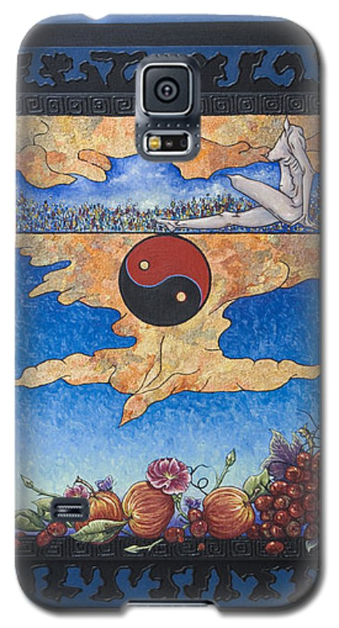 Karma Galaxy S5 Case featuring the painting The Dream by Judy Henninger