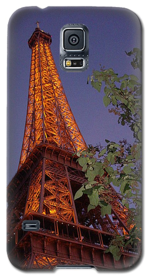 Tower Galaxy S5 Case featuring the photograph The Eiffel Tower Aglow by Nadine Rippelmeyer