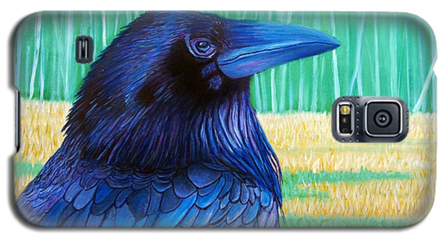 Raven Galaxy S5 Case featuring the painting The Field Of Dreams by Brian Commerford