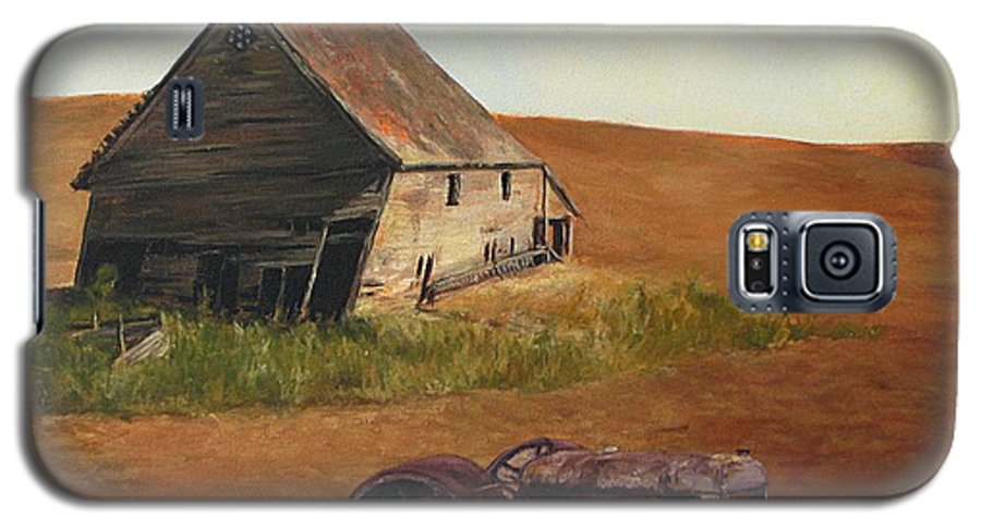 Oil Paintings Galaxy S5 Case featuring the painting The Forgotten Farm by Chris Neil Smith