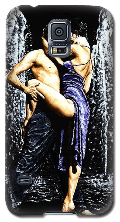 Tango Galaxy S5 Case featuring the painting The Fountain Of Tango by Richard Young