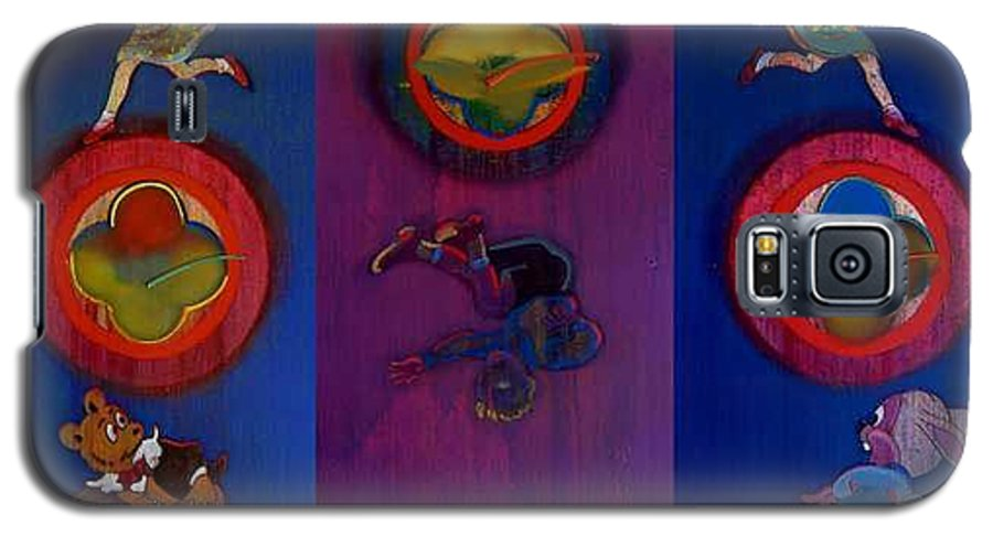 The Drums Of The Fruit Machine Stop At Random. Triptych Galaxy S5 Case featuring the painting The Fruit Machine Stops II by Charles Stuart