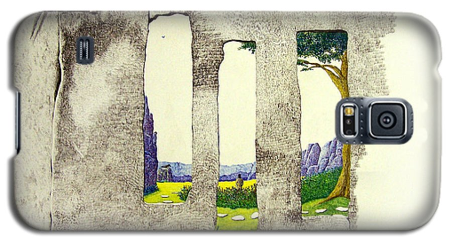 Imaginary Landscape. Galaxy S5 Case featuring the painting The Garden by A Robert Malcom