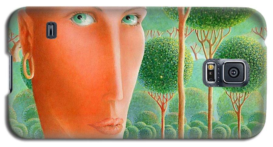 Giuseppe Mariotti Galaxy S5 Case featuring the painting The Garden by Giuseppe Mariotti