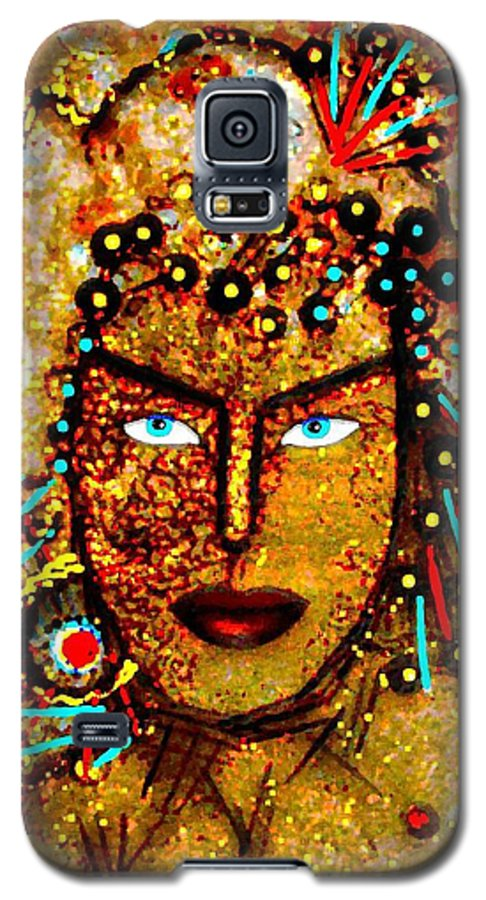 Goddess Galaxy S5 Case featuring the painting The Golden Goddess by Natalie Holland