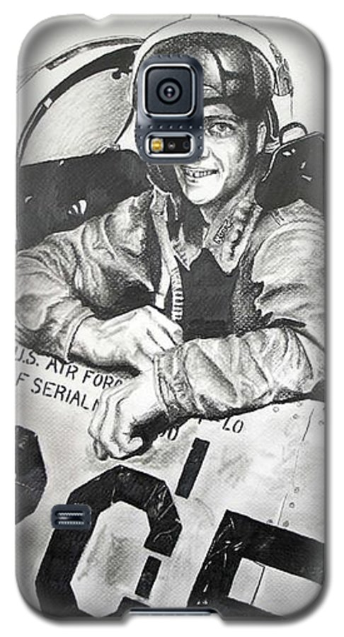 Military Galaxy S5 Case featuring the drawing The Good Old Days by Darcie Duranceau