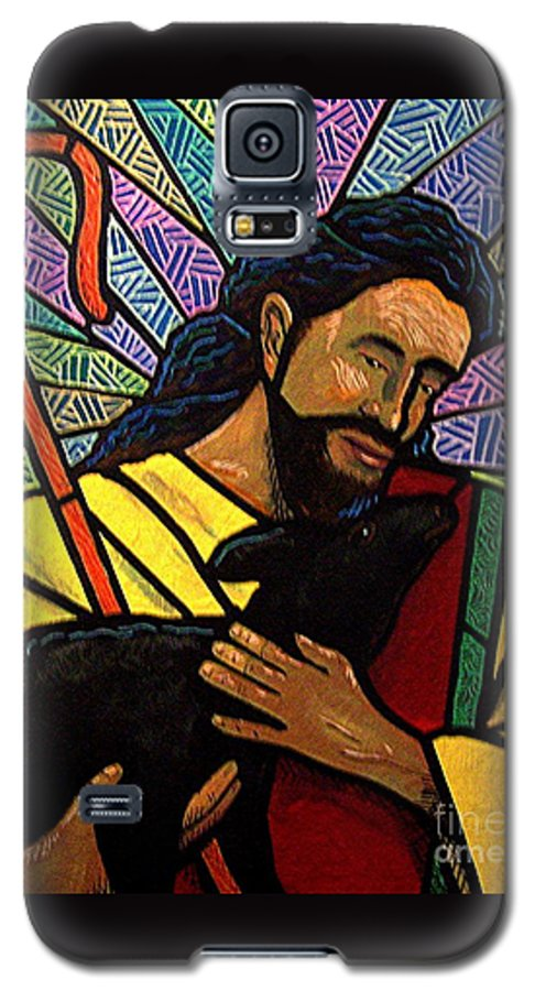 Jesus Galaxy S5 Case featuring the painting The Good Shepherd - Practice Painting One by Jim Harris