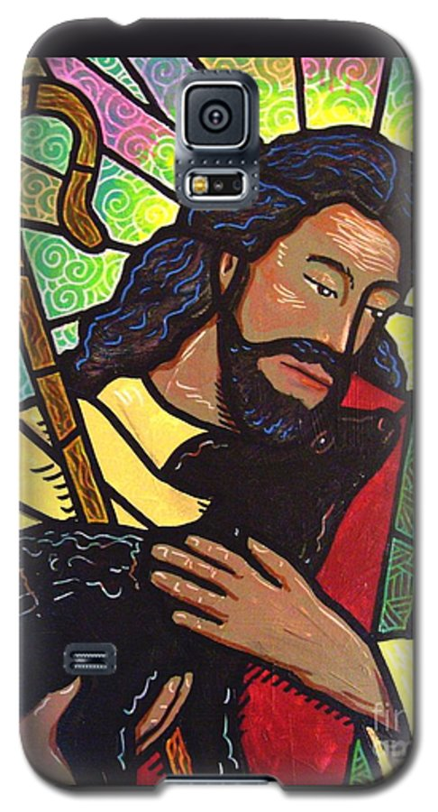 Jesus Galaxy S5 Case featuring the painting The Good Shepherd - Practice Painting Two by Jim Harris