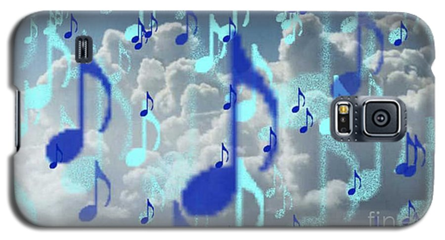 Galaxy S5 Case featuring the digital art The Greater Clouds Of Witnesses We Love The Blues Too by Brenda L Spencer
