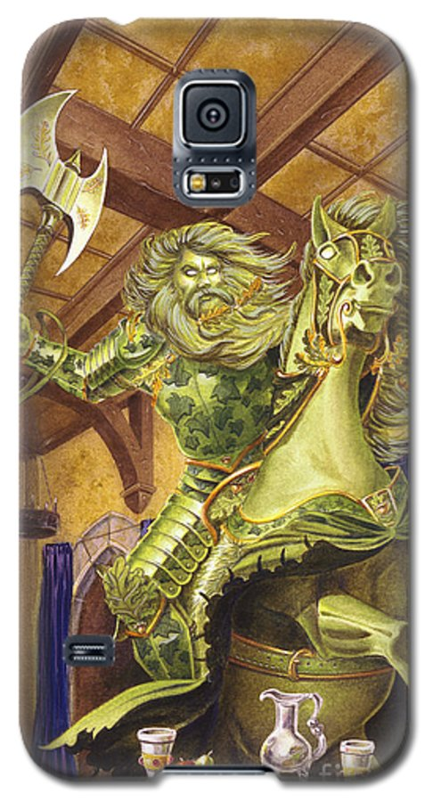 Fine Art Galaxy S5 Case featuring the painting The Green Knight by Melissa A Benson