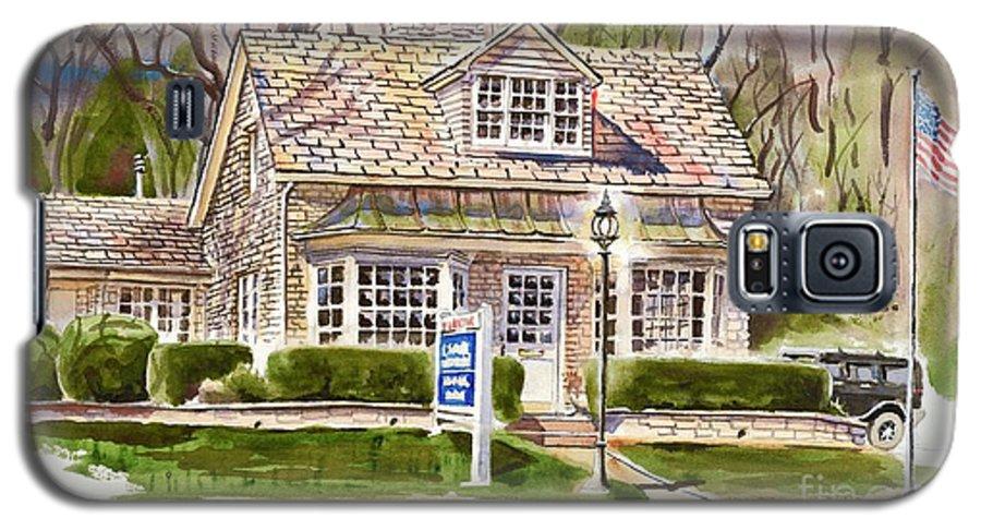 The Greystone Inn In Brigadoon Galaxy S5 Case featuring the painting The Greystone Inn In Brigadoon by Kip DeVore