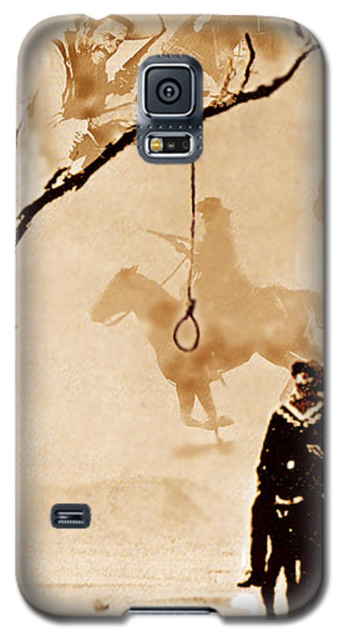 Clint Eastwood Galaxy S5 Case featuring the digital art The Hangman's Tree by Seth Weaver