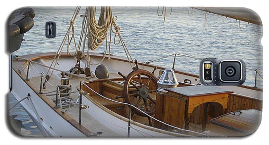 Sail Galaxy S5 Case featuring the photograph The Helm by Faith Harron Boudreau