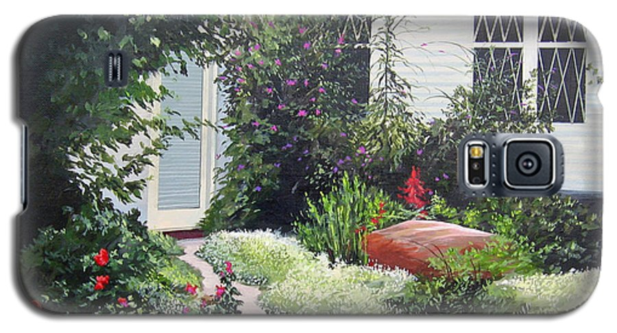 Garden Path Galaxy S5 Case featuring the painting The Hidden Garden by Hunter Jay