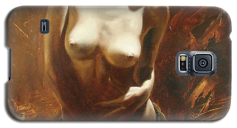 Oil Galaxy S5 Case featuring the painting The Incinerating Passion by Sergey Ignatenko