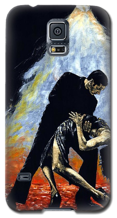 Tango Galaxy S5 Case featuring the painting The Intoxication Of Tango by Richard Young