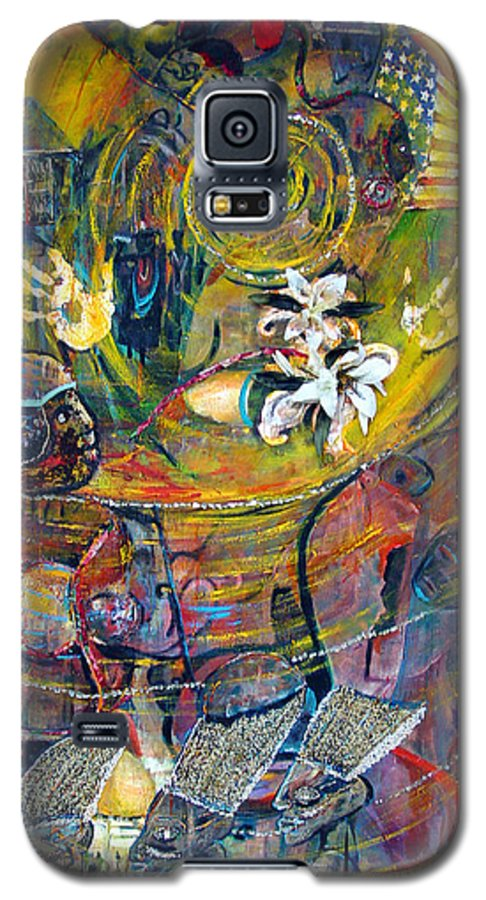 Figures Galaxy S5 Case featuring the painting The Journey by Peggy Blood
