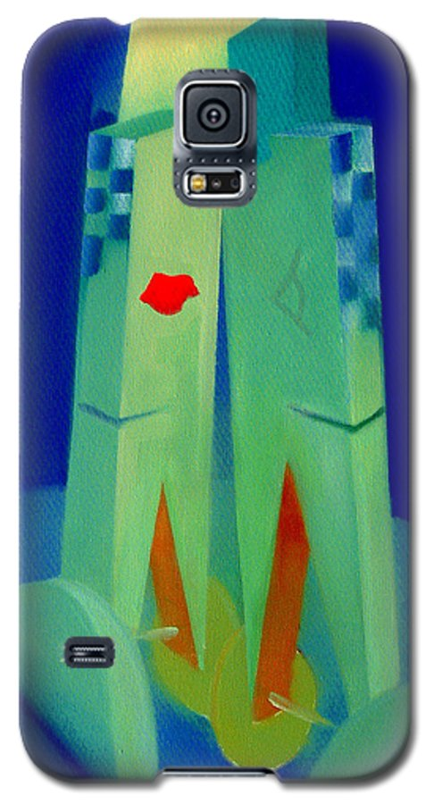 Blue Galaxy S5 Case featuring the painting The Kiss by Charles Stuart