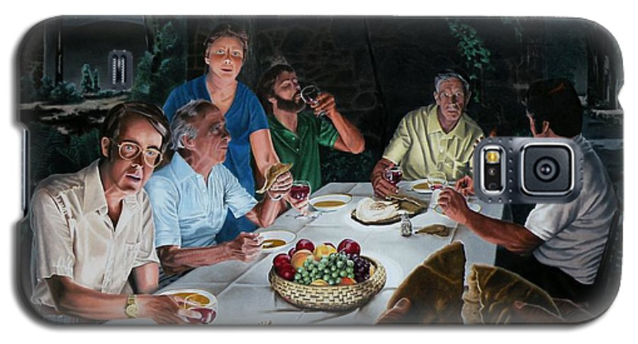 Last Supper Galaxy S5 Case featuring the painting The Last Supper by Dave Martsolf