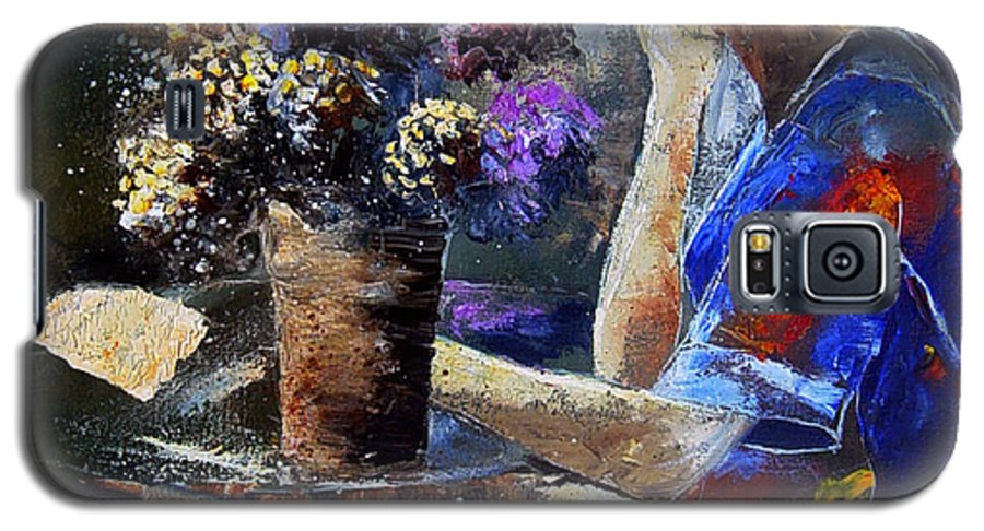 Girl Nude Galaxy S5 Case featuring the painting The Letter by Pol Ledent