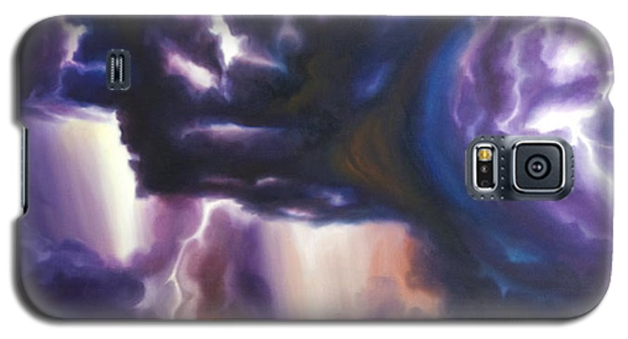 Tempest Galaxy S5 Case featuring the painting The Lightning by James Christopher Hill