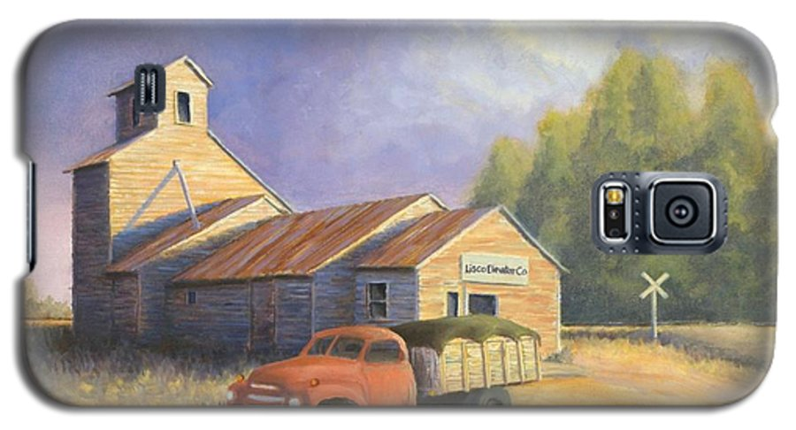 Nebraska Galaxy S5 Case featuring the painting The Lisco Elevator by Jerry McElroy