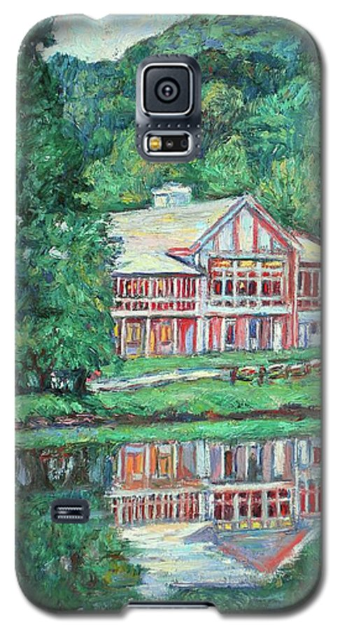 Lodge Paintings Galaxy S5 Case featuring the painting The Lodge At Peaks Of Otter by Kendall Kessler