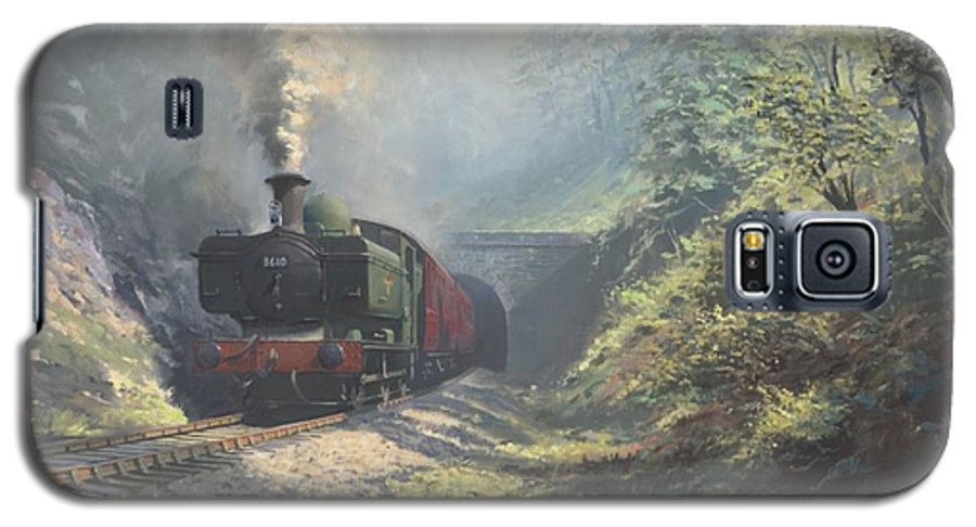Steam Galaxy S5 Case featuring the painting The Merthyr Tunnel by Richard Picton