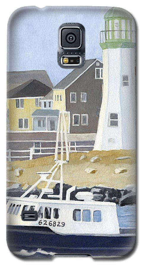 Fishingboat Galaxy S5 Case featuring the painting The Michael Brandon by Dominic White
