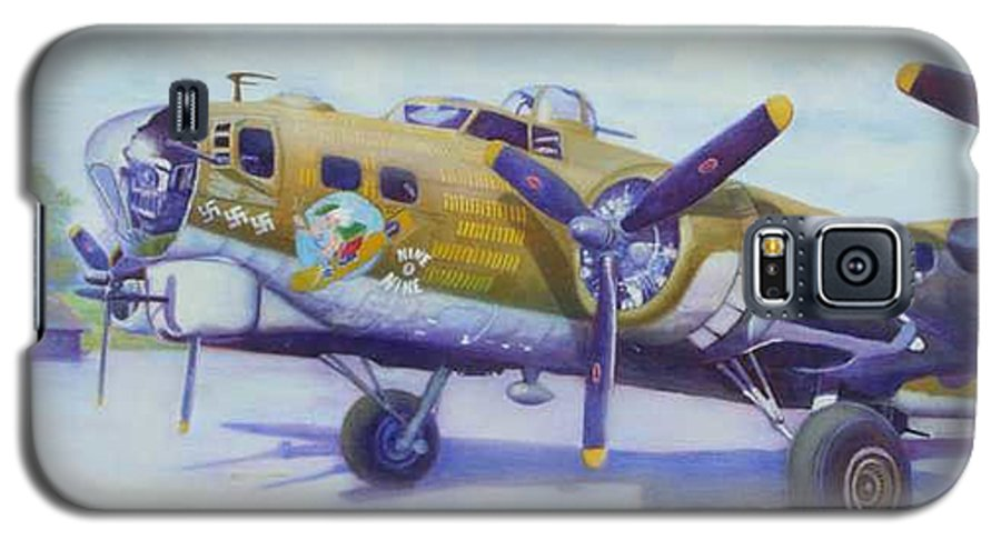B-17 Galaxy S5 Case featuring the painting The Nine O Nine by Scott Robertson