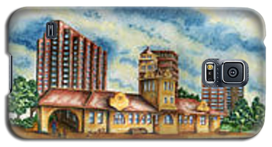 Cityscape Galaxy S5 Case featuring the painting The Old Train Station  by Ragon Steele