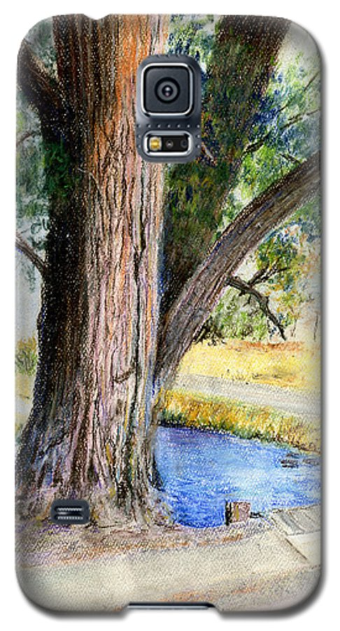 Tree Galaxy S5 Case featuring the pastel The Old Tree by Arline Wagner