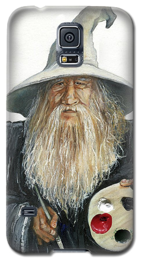 Wizard Galaxy S5 Case featuring the painting The Painting Wizard by J W Baker