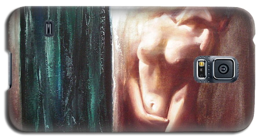 Ignatenko Galaxy S5 Case featuring the painting The Parallel World by Sergey Ignatenko