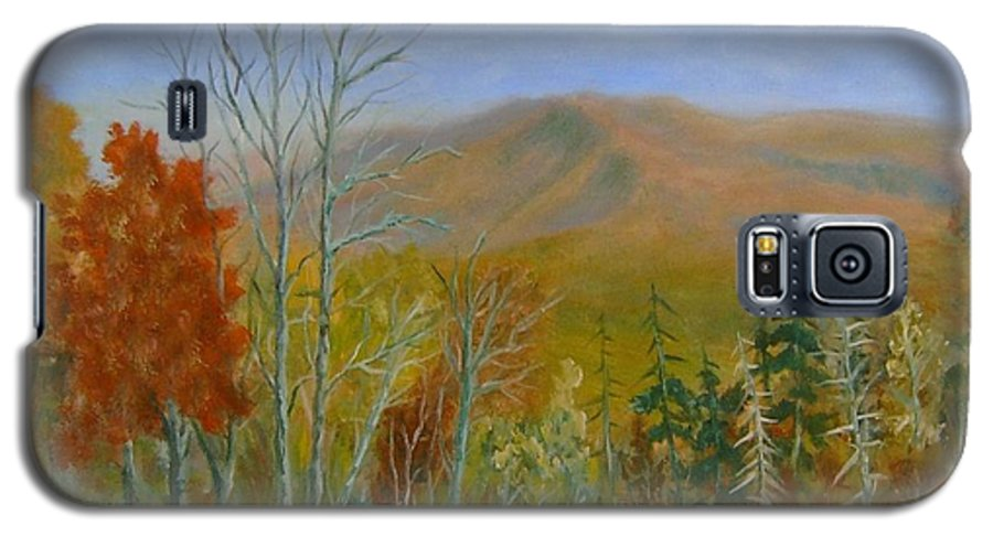 Mountains; Trees; Fall Colors Galaxy S5 Case featuring the painting The Parkway View by Ben Kiger